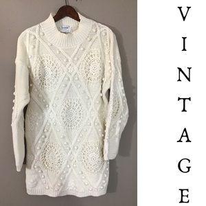 Vintage 80s 90s Ivory Minimalist Sweater